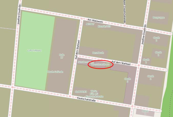 Landkarten- Screenshot von OpenStreetMaps.