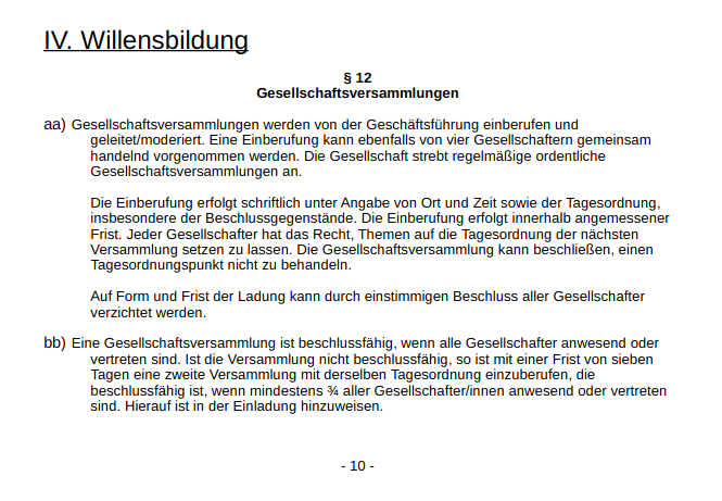 Screenshot aus unserem Bau GbR Vertrag